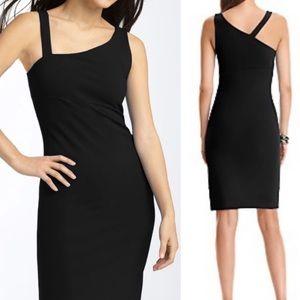 DVF Normie Asymmetrical Black Midi Dress